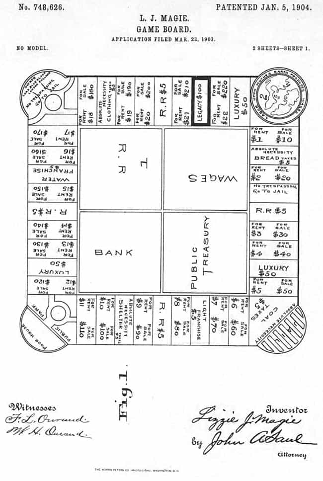Magie Patented The Landlord's ... is listed (or ranked) 2 on the list The True Story of Monopoly And Its Socialist Roots