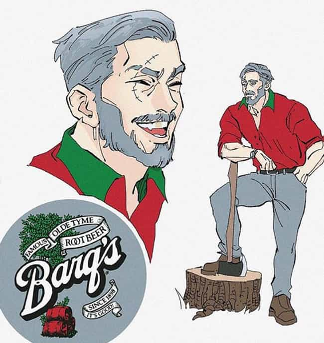 Barq's Root Beer is listed (or ranked) 2 on the list This Artist Illustrates What Your Favorite Drinks Would Look Like As People