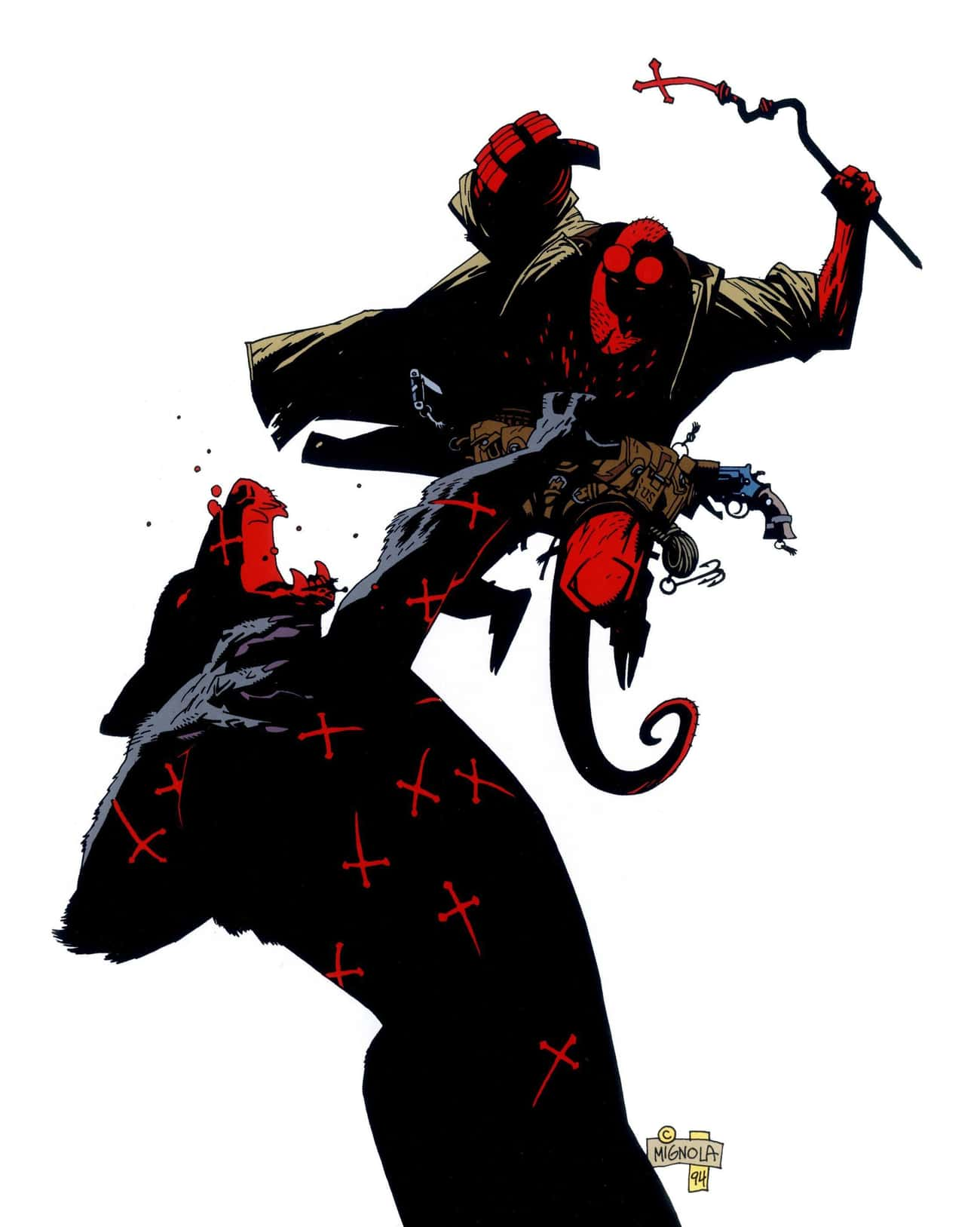 'The Place And The Hour Of The is listed (or ranked) 4 on the list The Most Violent Moments From 'Hellboy' Comics