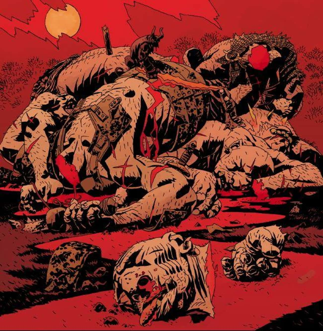 Hellboy Takes His Anger Out On is listed (or ranked) 1 on the list The Most Violent Moments From 'Hellboy' Comics