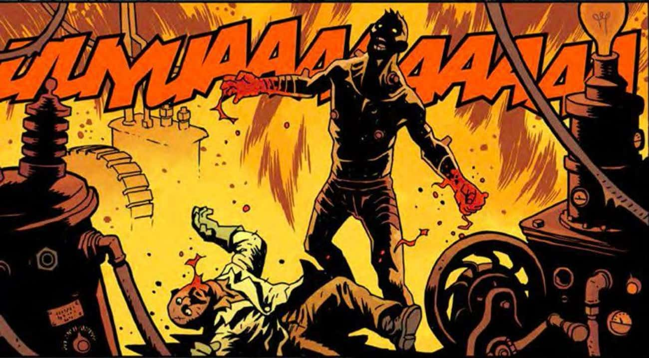 Frankenstein's Monster Tears A is listed (or ranked) 3 on the list The Most Violent Moments From 'Hellboy' Comics