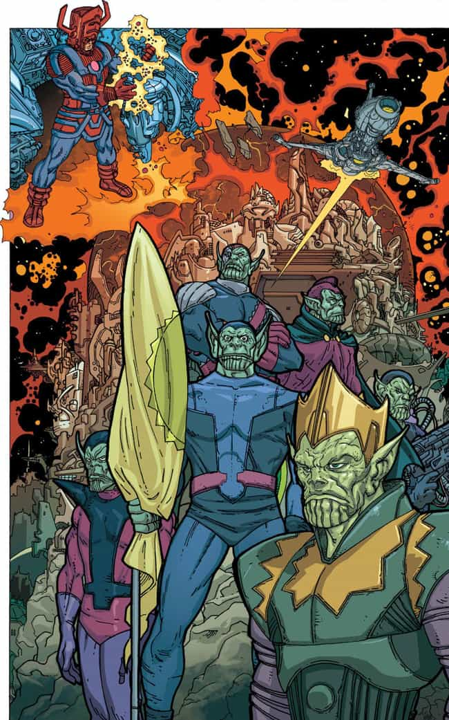 The Skrull Empire Has Many Fac... is listed (or ranked) 4 on the list How 'Captain Marvel' Still Sets The Stage For 'Secret Invasion' In The MCU