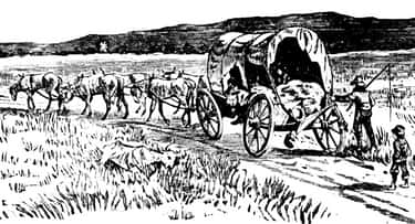 By Covered Wagon In The Early  is listed (or ranked) 1 on the list How Long It Would Take You To Travel From New York To California Throughout American History