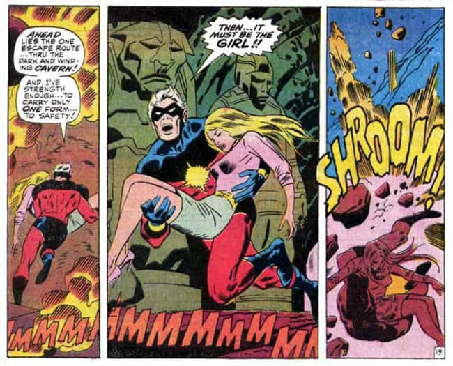 She Is Exposed To Kree Technol... is listed (or ranked) 4 on the list The Decades-Long Path Carol Danvers Took To Become Captain Marvel In The Comics