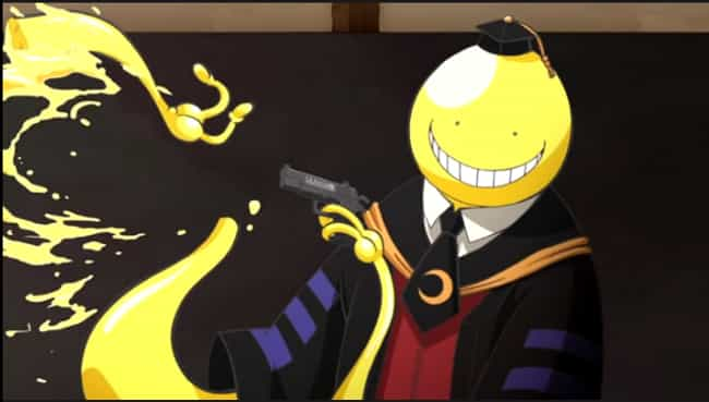 Koro-sensei - Assassination Cl... is listed (or ranked) 4 on the list 14 Anime Characters With Insane Defensive Abilities