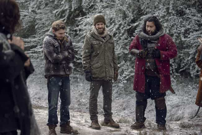 The Group Crosses The Frozen R... is listed (or ranked) 6 on the list Everything That Happened In 'The Walking Dead' Season 9 Finale