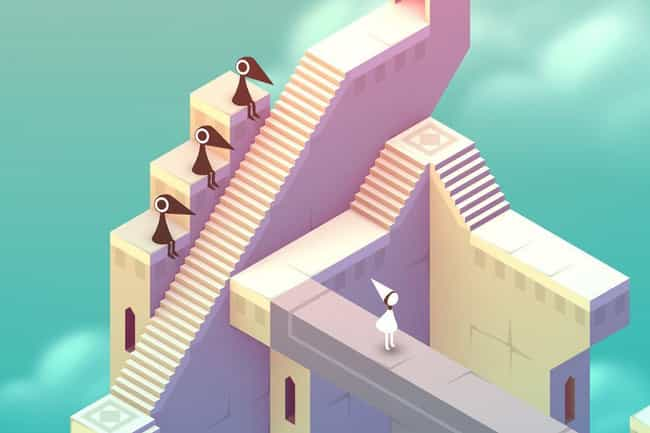 Monument Valley is listed (or ranked) 1 on the list The 20 Best Mobile Puzzle Games