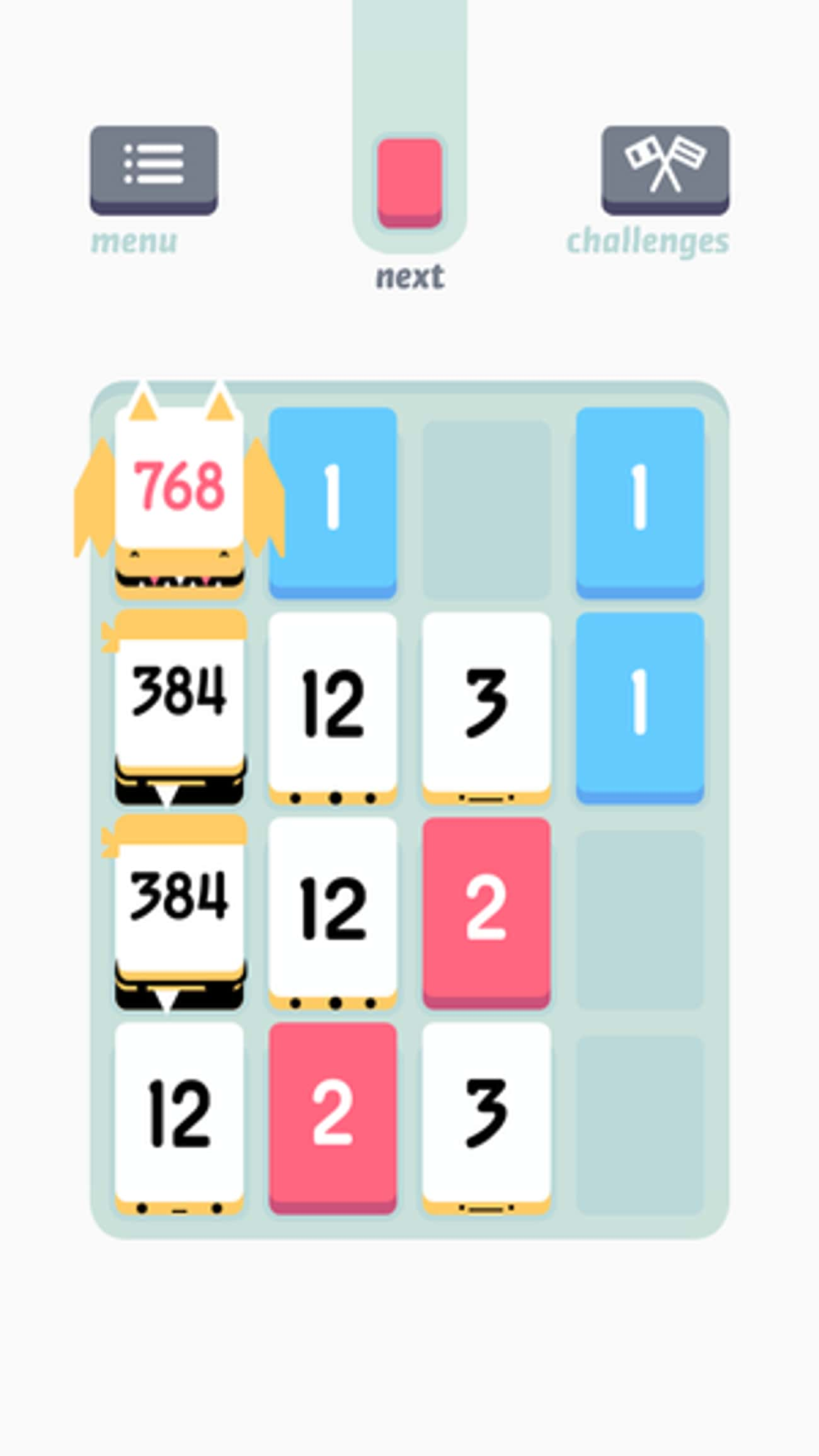 Threes! is listed (or ranked) 4 on the list The 20 Best Mobile Puzzle Games