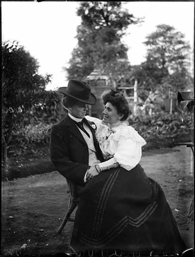 A Couple Seated In A Garden, A... is listed (or ranked) 11 on the list Heartwarming Photos Of Same Sex Couples Throughout History