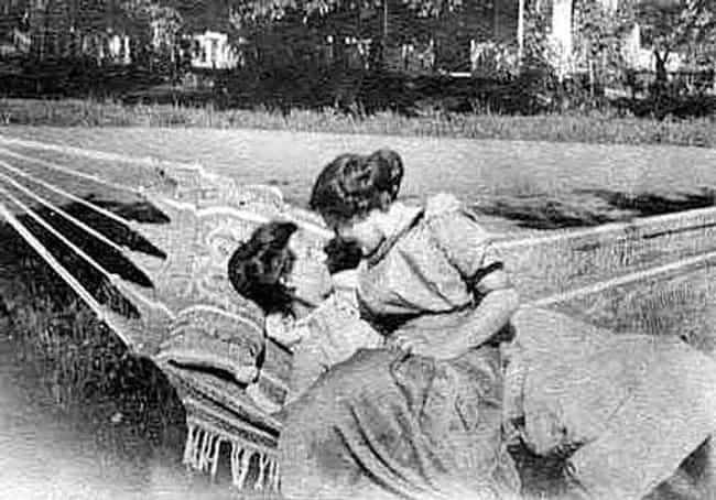 A Devoted Pair In A Hammock, c... is listed (or ranked) 7 on the list Heartwarming Photos Of Same Sex Couples Throughout History