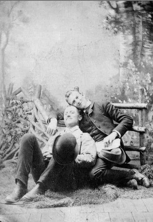 Cuddling For The Camera, 1875 is listed (or ranked) 2 on the list Heartwarming Photos Of Same Sex Couples Throughout History