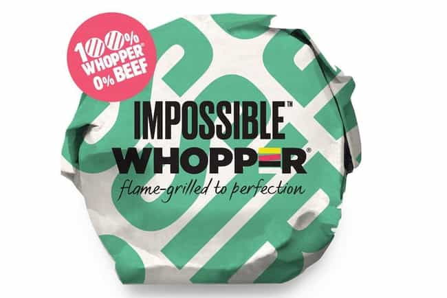 Burger King's Impossible Whopp... is listed (or ranked) 2 on the list New Fast Food Menu Items in 2019