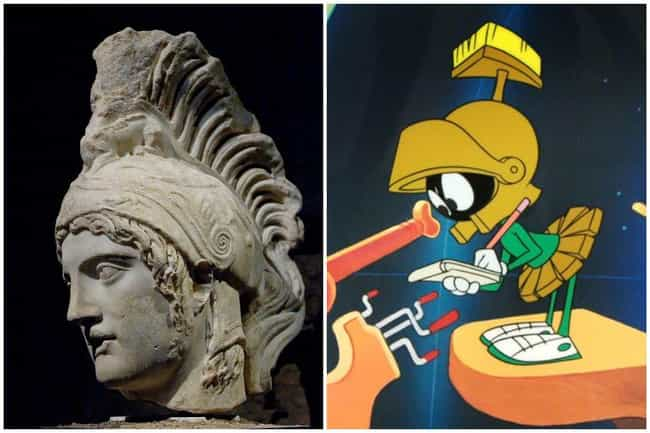 Ares - Marvin The Martia... is listed (or ranked) 1 on the list Mythological Easter Eggs Hiding In Pop Culture