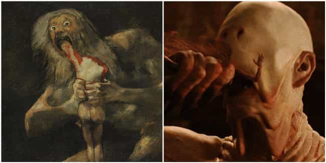 Saturn Devouring His Son... is listed (or ranked) 3 on the list Mythological Easter Eggs Hiding In Pop Culture