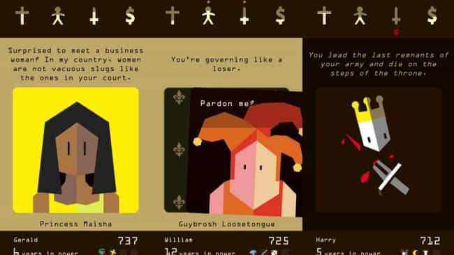 Reigns is listed (or ranked) 1 on the list The Best Mobile Card Games