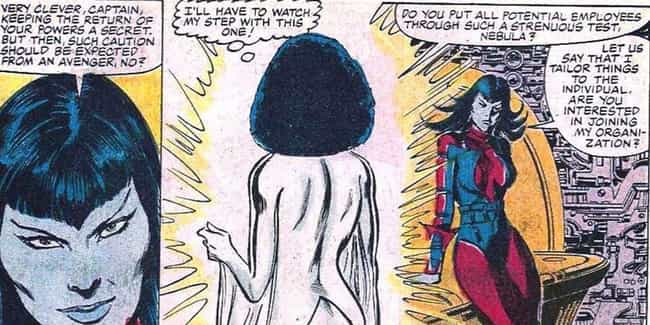 One Of Her First Clashes Was W... is listed (or ranked) 1 on the list 14 Things You Didn't Know About Nebula From The Comics