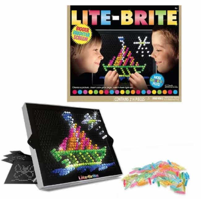 Lite-Brite is listed (or ranked) 4 on the list The Best '90s Toys Every Girl Wanted