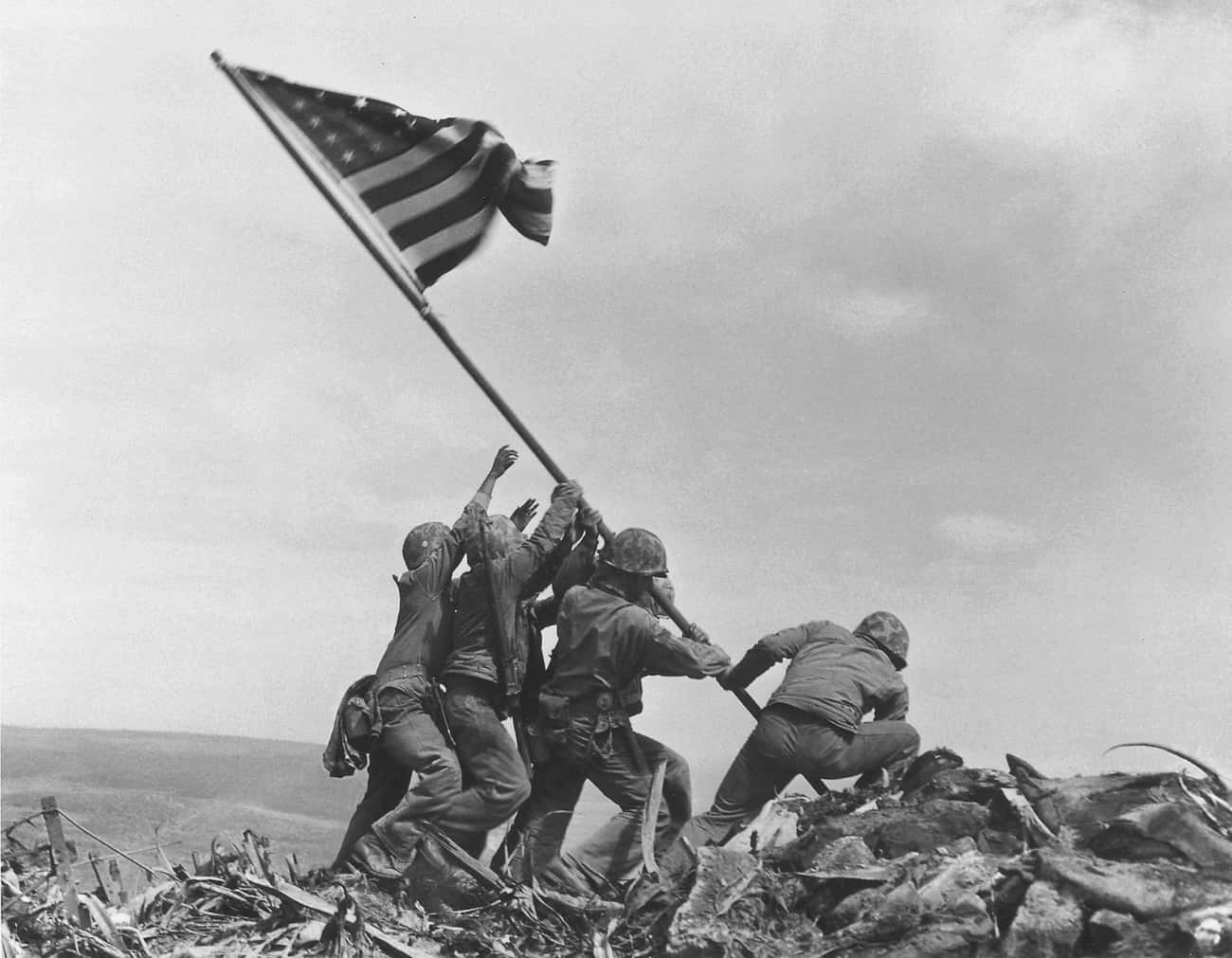 The Multiple Flags Of Iwo Jima