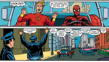 Johnny Storm And Spider-Man Are Best Frenemies
