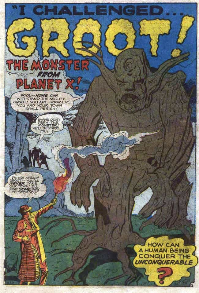 Groot First Appears In 'Tales ... is listed (or ranked) 3 on the list The Comic Book Backstory Behind How Groot Went From Tree Monster To Guardian Of The Galaxy