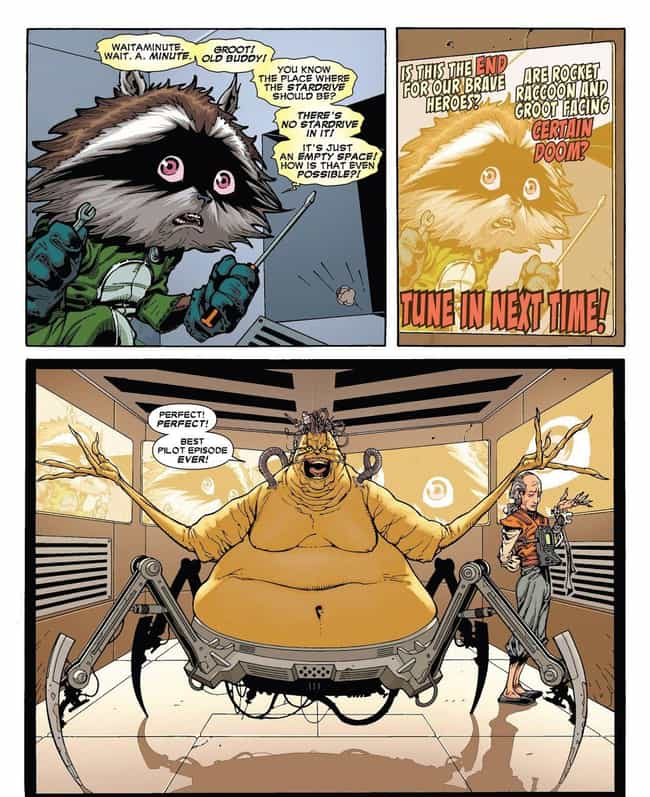 Rocket And Groot Stumble... is listed (or ranked) 4 on the list The Comic Book Backstory Behind How Groot Went From Tree Monster To Guardian Of The Galaxy