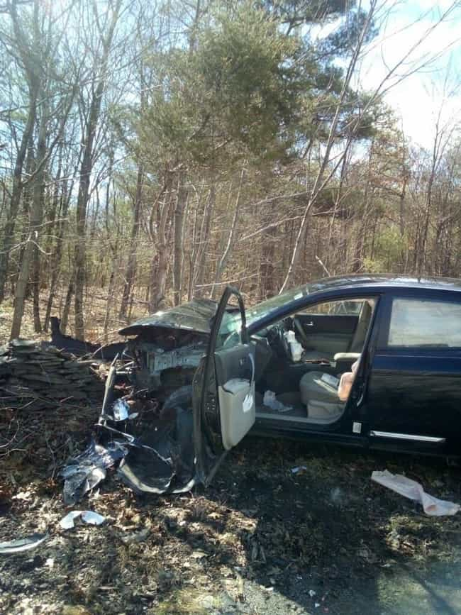 A Woman Totaled Her Car When A... is listed (or ranked) 1 on the list People Who Almost Killed Themselves Trying to Kill Spiders