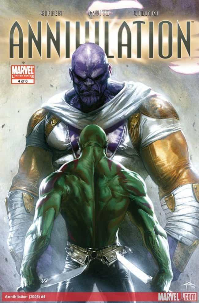 Thanos Ruins Arthur Douglas's ... is listed (or ranked) 2 on the list 13 Things You Didn't Know About The Comic Book Origins Of Drax The Destroyer