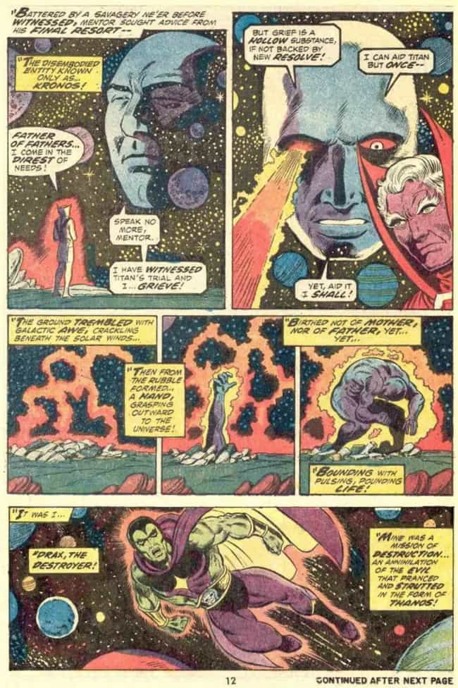 Kronos Puts His Spirit In A Ne... is listed (or ranked) 3 on the list 13 Things You Didn't Know About The Comic Book Origins Of Drax The Destroyer