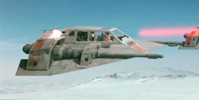Snowspeeder is listed (or ranked) 4 on the list The Best 'Star Wars' Vehicles That Can't Go Into Space