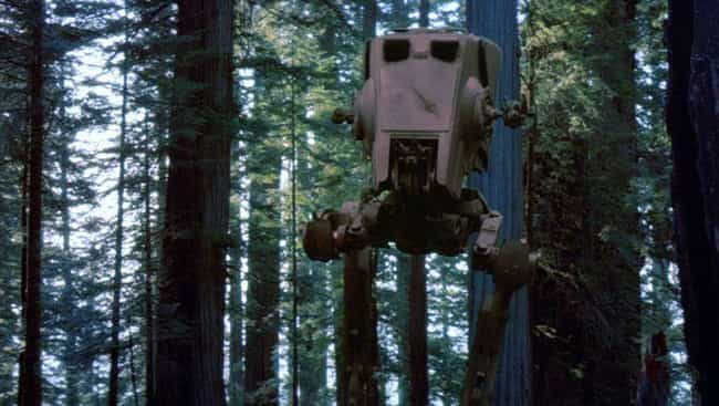 AT-ST Walker is listed (or ranked) 3 on the list The Best 'Star Wars' Vehicles That Can't Go Into Space