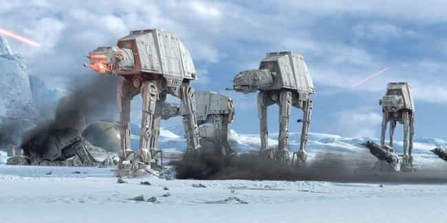 AT-AT Walker is listed (or ranked) 1 on the list The Best 'Star Wars' Vehicles That Can't Go Into Space