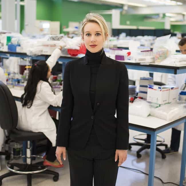 2003: Elizabeth Holmes Drops O... is listed (or ranked) 1 on the list A Complete Timeline Of The Theranos And Elizabeth Holmes Scandal