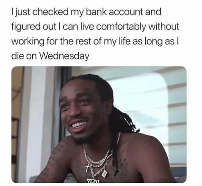 Midweek Blues is listed (or ranked) 1 on the list The 22 Best Funny But Sad Memes