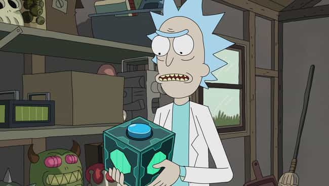 Meeseeks Box is listed (or ranked) 4 on the list All of Rick Sanchez's Gadgets From 'Rick and Morty'