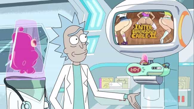 Interdimensional Cable Box is listed (or ranked) 2 on the list All of Rick Sanchez's Gadgets From 'Rick and Morty'