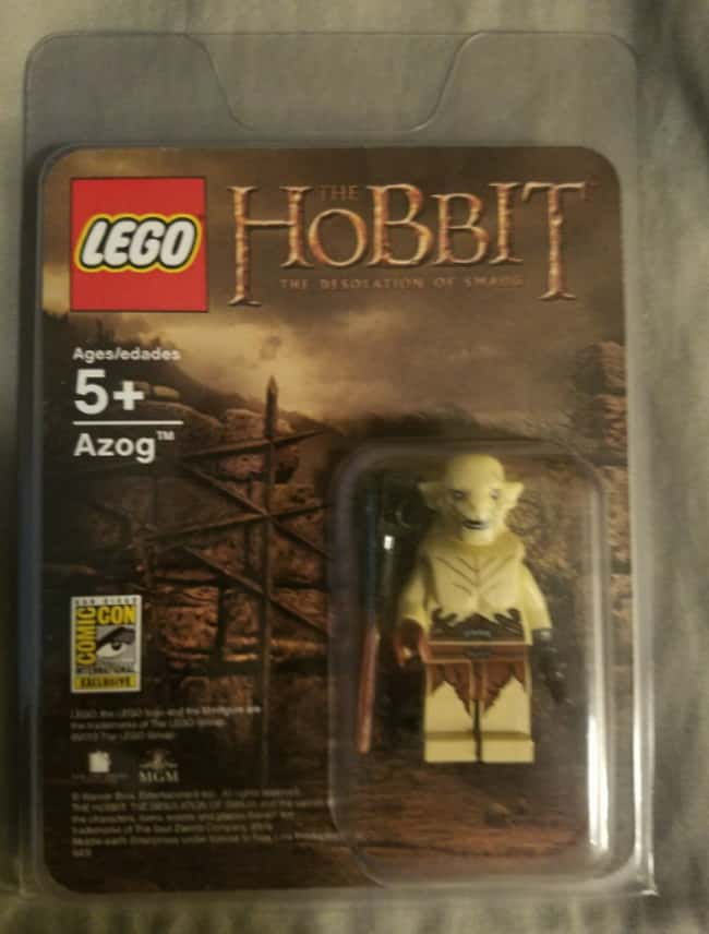 2013 San Diego Comic Con 'Hobb is listed (or ranked) 16 on the list All The Rarest And Most Valuable LEGO Minifigures