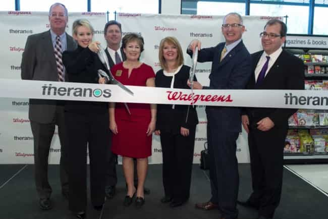 2013: Walgreens Partners... is listed (or ranked) 4 on the list A Complete Timeline Of The Theranos And Elizabeth Holmes Scandal