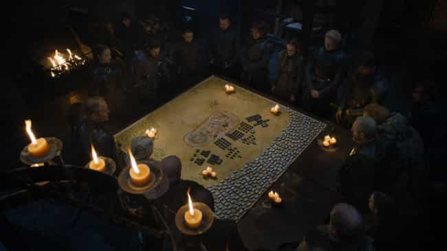 The Battlefield Map Shows A Cl... is listed (or ranked) 2 on the list Every Detail You Missed In 'Game of Thrones' Season 8, Episode 2: 'A Knight of the Seven Kingdoms'