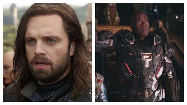Bucky And Rhodey Are About To ... is listed (or ranked) 7 on the list What 'Avengers: Endgame' Tells Us About Phase 4 Of The MCU