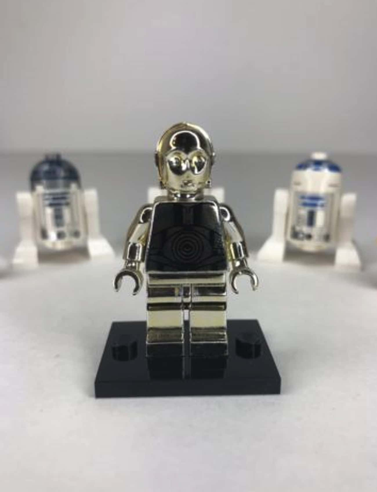 Solid Silver C-3PO (Star Wars  is listed (or ranked) 4 on the list All The Rarest And Most Valuable LEGO Minifigures