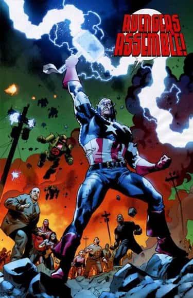 Captain America Lifts Mjolnir