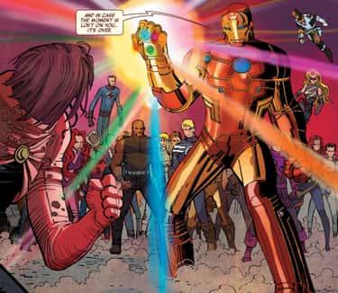 Iron Man Wields The Infinity Stones