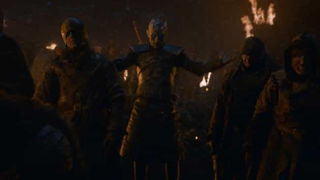 The Night King Raises The Dead is listed (or ranked) 7 on the list Everything That Happened In 'Game Of Thrones' Season 8, Episode 3: The Battle Of Winterfell