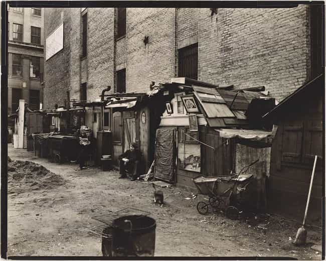 An Alley Of The Unemployed In ... is listed (or ranked) 4 on the list The Most Disquieting Photos Of The Great Depression