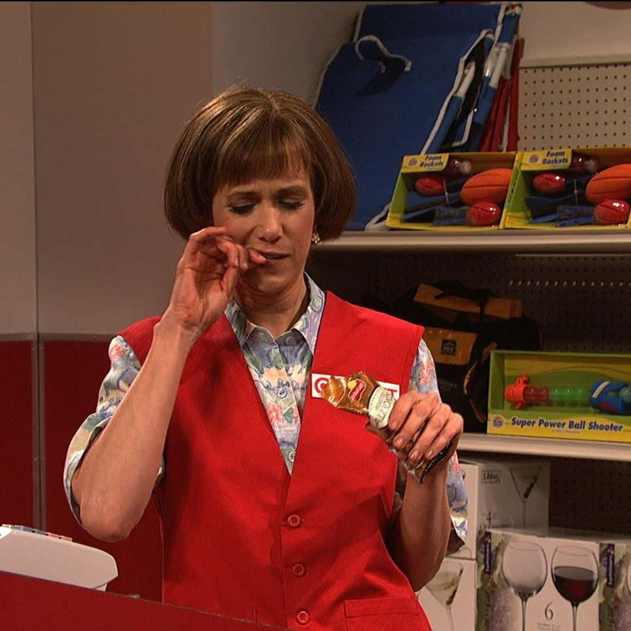 Target Lady is listed (or ranked) 1 on the list All Of Kristen Wiig's SNL Characters