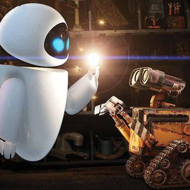 WALL-E and EVE is listed (or ranked) 2 on the list The Best Pixar Couples