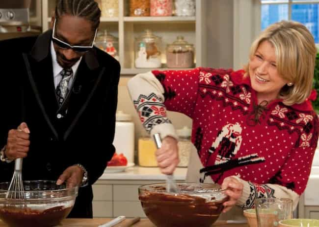 December 2009: The Duo Makes S... is listed (or ranked) 2 on the list A Timeline Of Martha Stewart And Snoop Dogg's Friendship