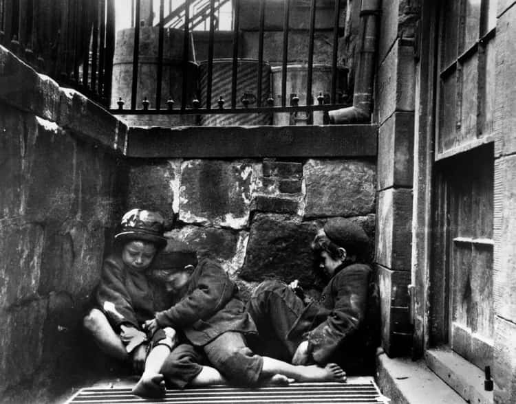 Homeless Boys In New York, 1890