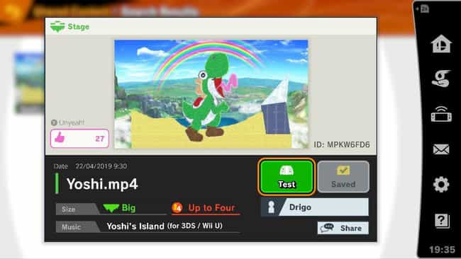 Yoshi.MP4 is listed (or ranked) 4 on the list 15 Hilarious Fan-Made Stages In 'Super Smash Bros. Ultimate'