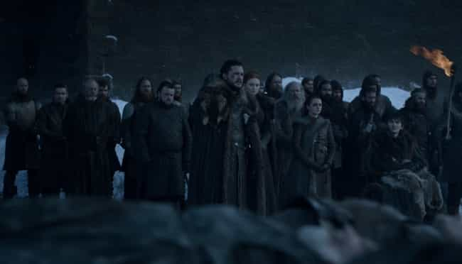 The North Bury Their Dead is listed (or ranked) 2 on the list Everything That Happened In 'Game Of Thrones' Season 8, Episode 4: 'The Last Of The Starks'